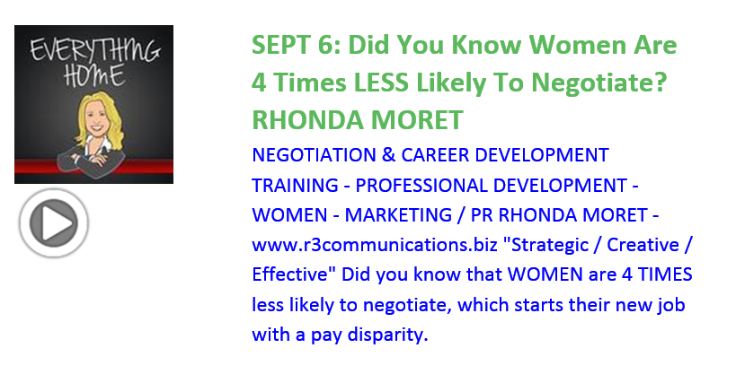 Everything Home Podcast - Sept 8- Rhonda Moret - Negotiation Skills - Trending