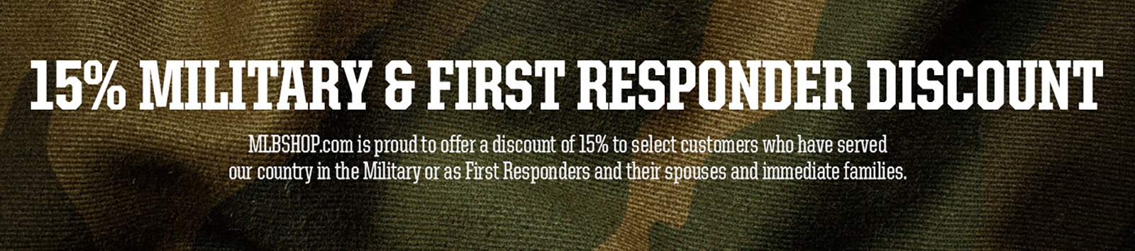 15 % military discount - mlb