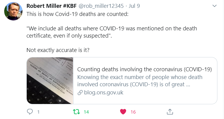 How deaths counted - Robert Miller