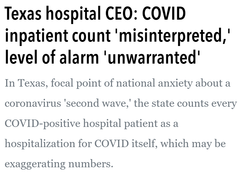Texas hospital CEO - counts everything - Just the News
